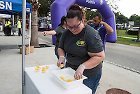Orlando, FL - Sunday June 26, 2016: Mango, Sponsor  prior to a regular season National Women's Soccer League (NWSL) match between the Orlando Pride and the Portland Thorns FC at Camping World Stadium.