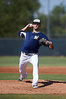 Milwaukee Brewers pitcher Johnny Hellweg (48) during an instructional league game against the Cleveland Indians on October 8, 2015 at the Maryvale Baseball Complex in Maryvale, Arizona.  (Mike Janes/Four Seam Images)