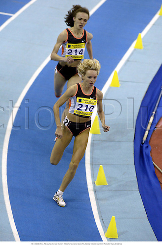 210. LIDIA CHOJECKA (POL) during the race, Women's 1500m, Norwich Union Grand Prix, National Indoor Arena 030221 Photo:Neil Tingle/Action Plus...Athletics 2003.athlete woman distance.track runner runners run running runs