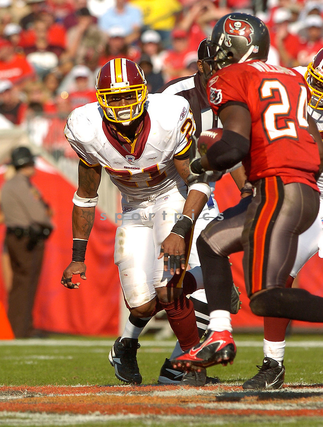 SEAN TAYLOR, of the Washington Redskins , in action against  the Tampa Bay Buccaneers on Novmeber 19, 2006 in Tampa Bay, FL...Titans win 20-17..David Durochik/ SportPics