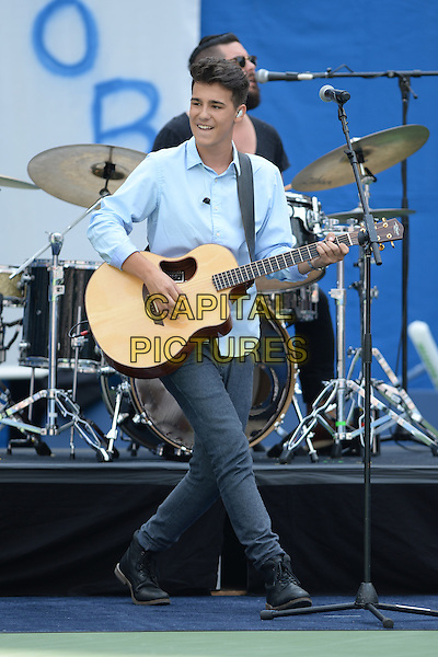 FLUSHING MEADOWS, NY - AUGUST 29: Jacob Whitesides performs during the 20th Annual Arthur Ashe Kids' Day at the 2015 US Open held at the USTA Billie Jean King National Tennis Center on August 29, 2015 in Flushing Meadows Queens. <br /> CAP/MPI/MPI04<br /> &copy;MPI04/MPI/Capital Pictures
