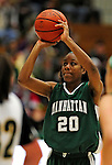 5 December 2009: Manhattan College Jaspers' guard/forward Toni-Ann Lawrence, a Freshman from Elmont, NY, in action against the University of Vermont Catamounts at Patrick Gymnasium in Burlington, Vermont. The Catamounts defeated the visiting Jaspers 78-59 to mark the Lady Cats' second home win of the season. Mandatory Credit: Ed Wolfstein Photo