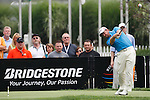 Graeme McDowell (NIR) teeing off on the 17th on day 1 of the World Golf Championship Bridgestone Invitational, from Firestone Country Club, Akron, Ohio. 4/8/11.Picture Fran Caffrey www.golffile.ie