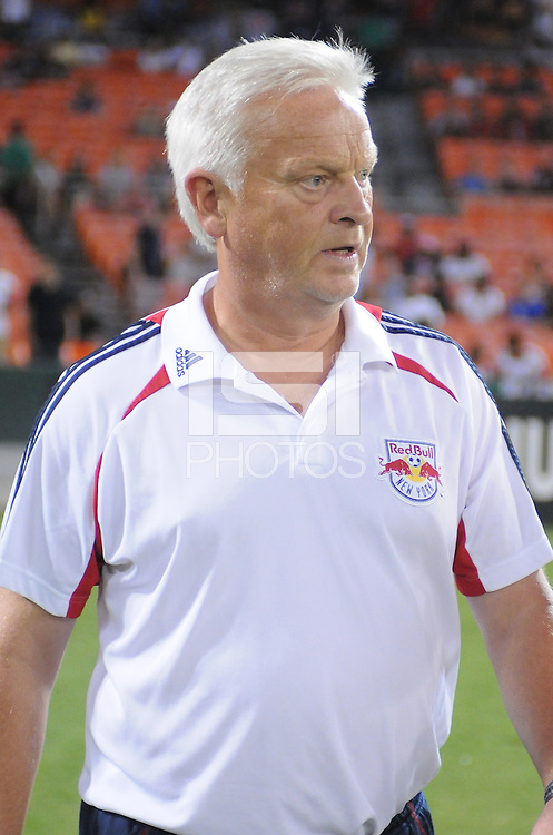 New York Red Bulls head coach Hans Backe. The New York Red Bulls tied D.C. United 2-2 at RFK Stadium, Wednesday August 29, 2012.