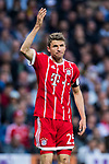 Thomas Muller of FC Bayern Munich reacts during the UEFA Champions League Semi-final 2nd leg match between Real Madrid and Bayern Munich at the Estadio Santiago Bernabeu on May 01 2018 in Madrid, Spain. Photo by Diego Souto / Power Sport Images