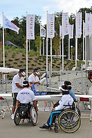 Poznan, POLAND,  Adaptive training sessions, at the  Malta Rowing Lake venue for the 2009 FISA World Rowing Championships. Saturday  22/08/2009 [Mandatory Credit. Peter Spurrier/Intersport Images]