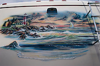 LONG POND, PA - JUNE 12:  A painting on the side of a RV at the Pocono 500 Nascar Car Race in Long Pond, PA on June 12, 2005 in the Poconos, PA.  (photo by Landon Nordeman)..