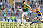 Anthony Maher Kerry in Action against Brian Fox Tipperary in the Senior Munster Football Final at Fitzgerald Stadium, Killarney on Sunday.