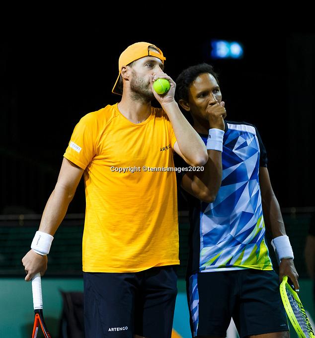 Rotterdam, The Netherlands, 12 Februari 2020, ABNAMRO World Tennis Tournament, Ahoy. Doubles: Raven Klaasen (RSA) and Oliver Marach (AUT).<br /> Photo: www.tennisimages.com