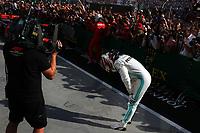 #44 Lewis Hamilton Mercedes AMG Team celebrates victory <br /> F1. Hungarian GP, Budapest 2-4 August 2019<br /> Budapest 04/08/2019 GP Hungary <br /> Formula 1 Championship 2019 Race  <br /> Photo Federico Basile / Insidefoto