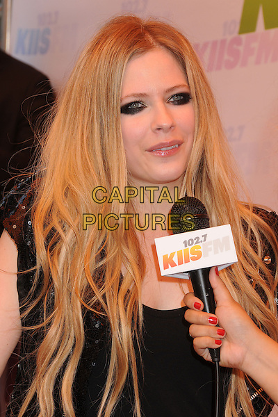 Avril Lavigne.at KIIS FM's Wango Tango 2013 held at The Home Depot Center, Carson, California, USA, 11th May 2013..arrivals portrait headshot microphone interview eyeliner black makeup .CAP/ADM/BP.©Byron Purvis/AdMedia/Capital Pictures