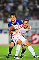 Yasuyuki Konno (Gamba), Zlatan Ljubijankic (Ardija),.AUGUST 4, 2012 - Football / Soccer :.2012 J.League Division 1 match between Gamba Osaka 3-1 Omiya Ardija at Expo '70 Stadium in Osaka, Japan. (Photo by AFLO)