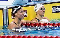 (L to R) PELLEGRINI Federica ITA; HOSSZU Katinka HUN<br /> 200 freestyle women<br /> FINA Airweave Swimming World Cup 2015<br /> Doha, Qatar 2015  Nov.2 nd - 3 rd<br /> Day1 - Nov. 2 nd Finals<br /> Photo G. Scala/Deepbluemedia