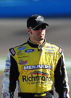Apr 17, 2009; Avondale, AZ, USA; NASCAR Sprint Cup Series driver Paul Menard during qualifying for the Subway Fresh Fit 500 at Phoenix International Raceway. Mandatory Credit: Mark J. Rebilas-