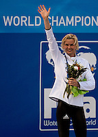 Roma 2nd August 2009 - 13th Fina World Championships .From 17th to 2nd August 2009.Women's 50 Breastroke.Britta STEFFEN (GER) Gold Medal.Roma2009.com/InsideFoto/SeaSee.com . .Foto Andrea Staccioli Insidefoto