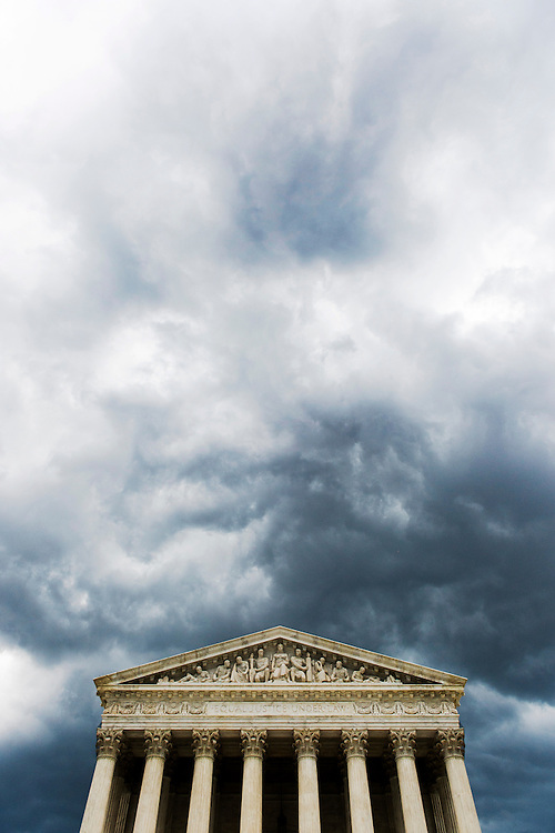 UNITED STATES - JULY 8: A strong storm front passes over the U.S. Supreme Court on Tuesday, July 8, 2014. (Photo By Bill Clark/CQ Roll Call)