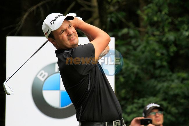 Simon Khan (ENG) tees off on the par3 17th hole during of Day 3 of the BMW International Open at Golf Club Munchen Eichenried, Germany, 25th June 2011 (Photo Eoin Clarke/www.golffile.ie)