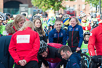 Picture by Allan McKenzie/SWpix.com - 24/09/2017 - Cycling - HSBC UK City Ride Liverpool - Albert Dock, Liverpool, England - Neil and Lora Faschie on the start line.