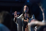"Irene Montero in the act of beginning of the campaign ""Unidas Podemos"" in Madrid. The spokesman of this party in Congress, Irene Montero, and the federal coordinator of IU, Alberto Garzón, intervene in it.<br /> October 31, 2019. <br /> (ALTERPHOTOS/David Jar)"