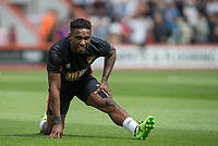 Jermain Defoe of AFC Bournemouth warms up wearing black tape on his right wrist during the Friendly match between Bournemouth and Valencia  at the Goldsands Stadium, Bournemouth, England on 30 July 2017. Photo by Andy Rowland.