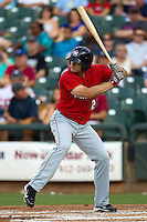 Oklahoma City RedHawks outfielder Brad Snyder #23 at bat during the Pacific Coast League baseball game against the Round Rock Express on June 15, 2012 at the Dell Diamond in Round Rock, Texas. The Express shutout the RedHawks 2-1. (Andrew Woolley/Four Seam Images).