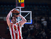 22nd March 2018, Aleksandar Nikolic Hall, Belgrade, Serbia; Turkish Airlines Euroleague Basketball, Crvena Zvezda mts Belgrade versus Fenerbahce Dogus Istanbul; Guard Taylor Rochestie of Crvena Zvezda mts Belgrade shoots for three points