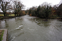 Pictured: River Ogmore near where Russell Sherwood went missing in Stormy Down, Wales, UK. Tuesday 22 November 2016<br />