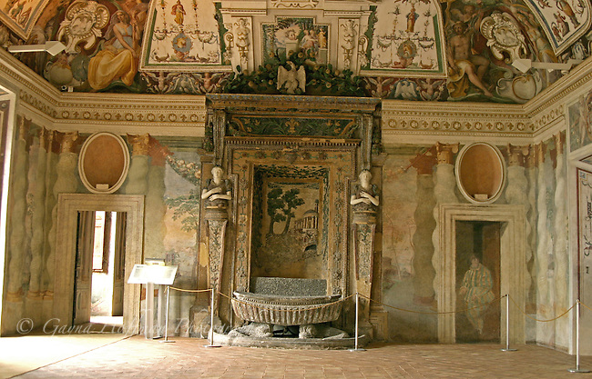 Beautiful room in the Villa d'Este, Tivoli, Italy