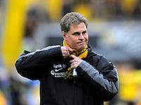 Fussball, 2. Bundesliga, Saison 2011/12, SG Dynamo Dresden - Eintracht Braunschweig, Samstag (07.04.12), gluecksgas Stadion, Dresden. Dresdens Trainer Ralf Loose.