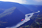 Hyner View State Park, hang gliding, Susquehanna River and mid-state mountains