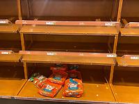 MAR 12 Wegmans Patrons Empty Shelves Due To Coronavirus