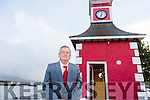 The Clock Tower in Knightstown, Valentia will chime again this New Years Eve at midnight after being silent for 93 years when the Free State Army shot out the clock in 1922 pictured here Michael Egan who is responsible for the restoration work.