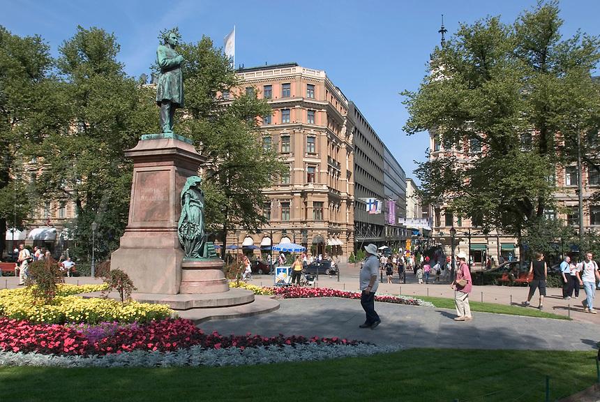 Esplanadi park in Helsinki, Finland