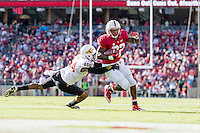 STANFORD, CA - SEPTEMBER 22, 2013: Anthony Wilkerson runs for a touchdown during Stanford's game against Arizona State. The Cardinal defeated the Sun Devils 42-28.