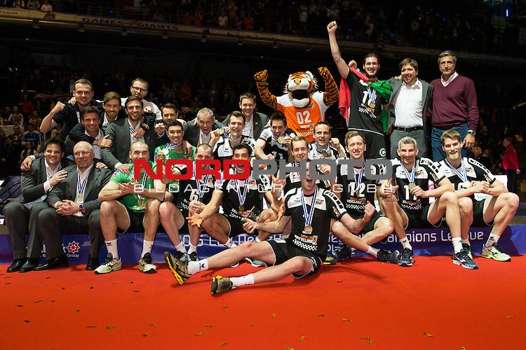 29.03.2015, Max Schmeling Halle, Berlin<br /> Volleyball, 2015 CEV Volleyball Champions League, Final Four, Siegerehrung<br /> <br /> 3. Platz / Bronze / Bronzemedaille: BR Volleys / Berlin Recycling Volleys (GER)<br /> <br />   Foto &copy; nordphoto / Kurth