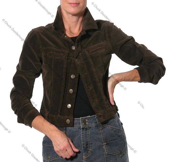 Stock photo of a women's Corduroy Jacket