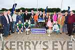 Presentation to Nikki Holland (Trainers wife),Grahame Holland (Trainer), John O'Dwyer (Owner) of the winning Dog in  Boylesports Race of Champions Final, Rural Hawaii at the Kingdom Greyhound Stadium  on Friday
