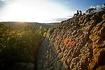 Rock climbing at Sam's Throne in Northwest Arkansas.