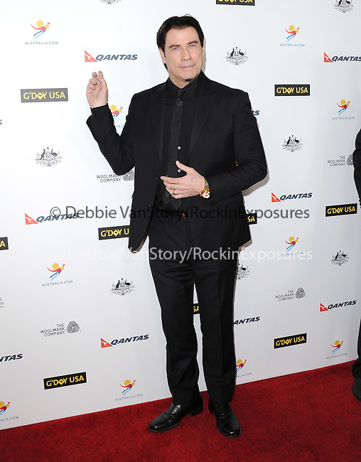 John Travolta attends The G'Day USA Black Tie Gala held at  JW Marriot at LA Live in Los Angeles, California on January 11,2014                                                                               © 2014 Hollywood Press Agency