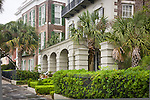 Stately antebellum mansions on The Battery, Charleston, SC, a National Historic Landmark district.