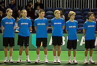 Rotterdam, The Netherlands. 15.02.2014. ABN AMRO World Wheelchair Tennis Tournament ballkids<br /> Photo:Tennisimages/Henk Koster