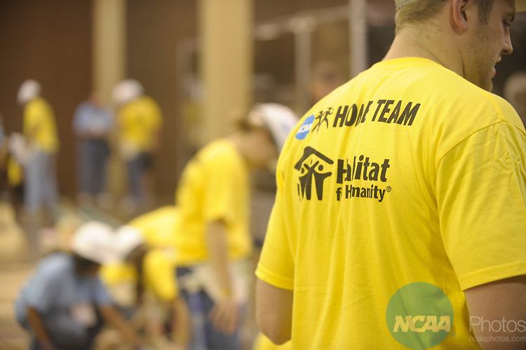11 JAN 2008:  NCAA SAAC members participated in a Habitat for Humanity home build at the 2008 NCAA Convention held at the Gaylord Palms Opryland Resort and Convention Center in Nashville, TN. Stephen Nowland/NCAA Photos.