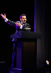 Max Casella on stage at the Stage Directors and Choreographers Foundation event honoring Julie Taymor with the Mr. Abbott Award at the Bohemian National Hall on April 2, 2018 in New York City.