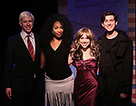 Mitchel Kawash, Aiesha Alia Dukes, Mia Weinberger, and Richard Spitaletta onstage during the 'ME THE PEOPLE: The Trump America Musical' Press Preview Presentation at The Triad Theater on June 21, 2017 in New York City.