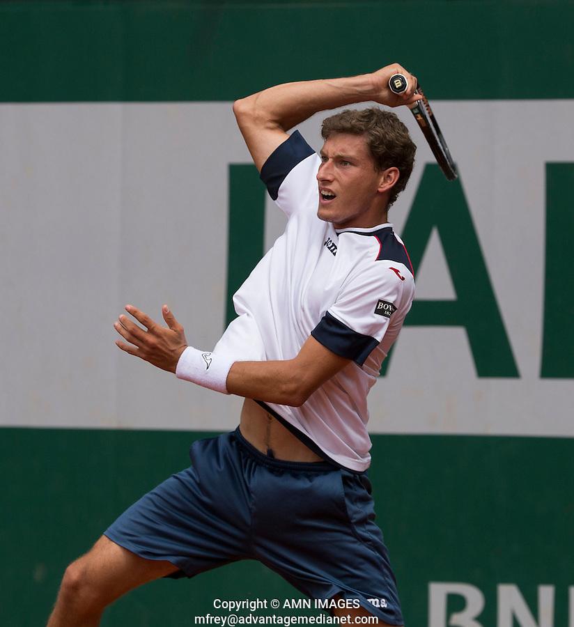PABLO CARRENO BUSTA (ESP)<br /> <br /> Tennis - French Open 2014 -  Toland Garros - Paris -  ATP-WTA - ITF - 2014  - France -  25 May 2014. <br /> <br /> &copy; AMN IMAGES