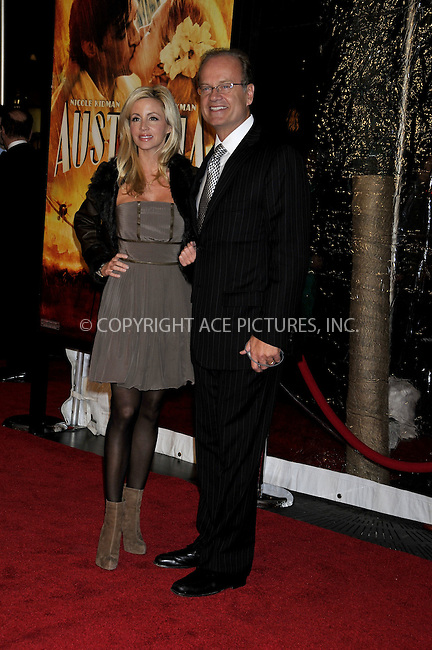 WWW.ACEPIXS.COM . . . . .....November 24, 2008. New York City.....Camille Donatacci and Kelsey Grammer attend the 'Australia' Premiere held at the Ziegfeld Theater on November 24, 2008 in New York City...  ....Please byline:  AJ Sokalner - ACEPIXS.COM..... *** ***..Ace Pictures, Inc:  ..Philip Vaughan (646) 769 0430..e-mail: info@acepixs.com..web: http://www.acepixs.com