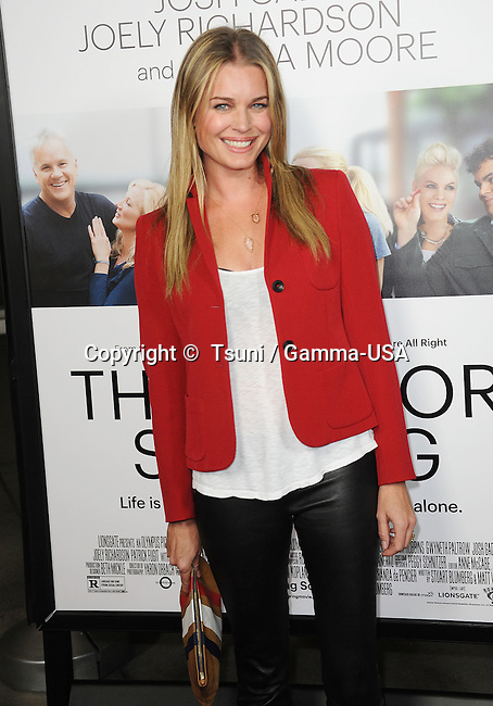 Rebecca Romijn  arriving  Thank You For Sharing Premiere at the Arclight Theatre In Los Angeles.