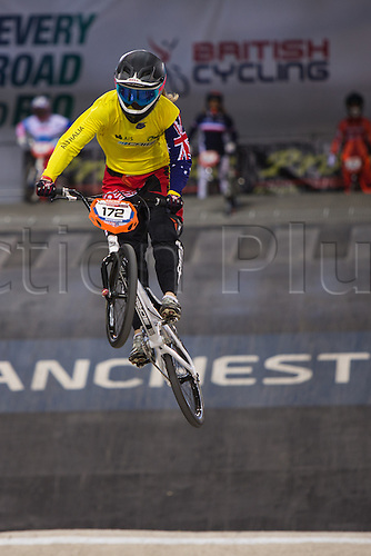 10.04.2016. National Cycling Centre, Manchester, England. UCI BMX Supercross World Cup Finals. Leanna Curtis.