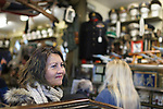 Marlisa Hartmann, of Carson City, Nev., tours the Westwall Militaria store during the Carson City Ghost Walk on the historical west side of the city Saturday, Oct. 21, 2017.<br /> Photo by Candice Nyando/Nevada Momentum