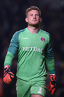 Charlton goalkeeper, Dillon Phillips, looking focused and confident in the penalty shoot-out during Charlton Athletic vs Doncaster Rovers, Sky Bet EFL League 1 Play-Off Football at The Valley on 17th May 2019